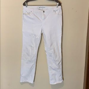 Michael Kors cropped white jeans, 10
